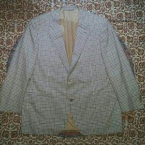 Canali 1934 Wool Gingham Checks Sports Jacket, 50R